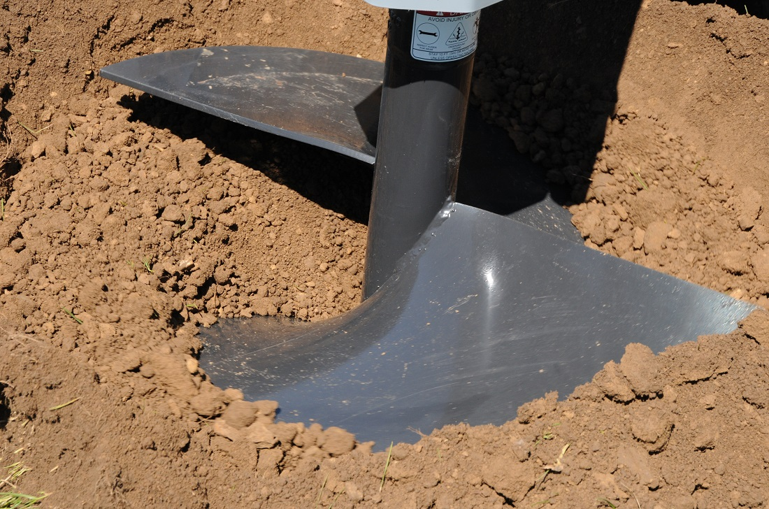 Baumalight auger in action