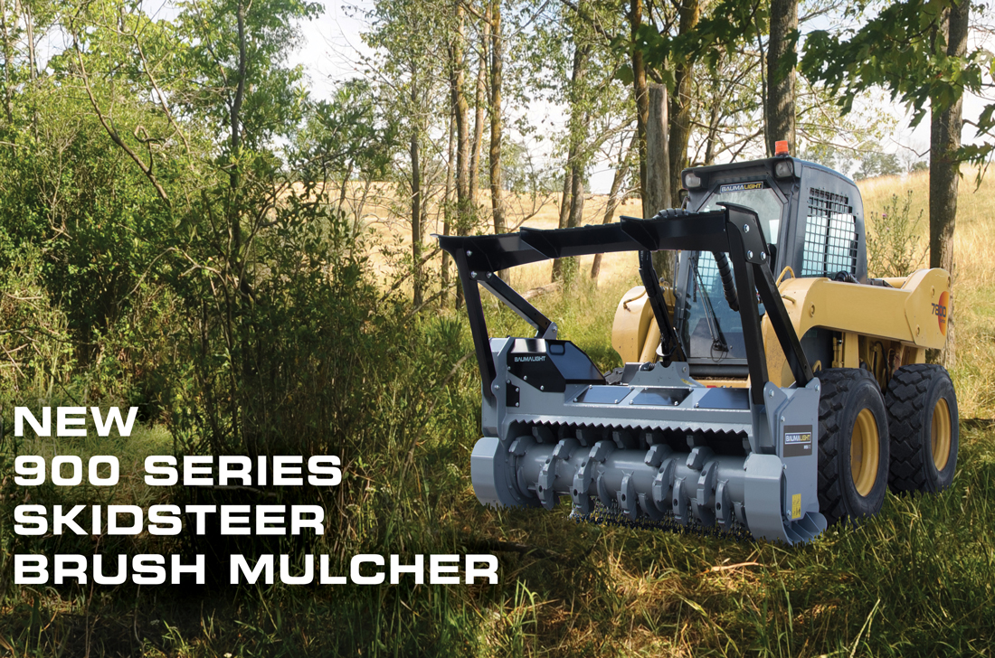 Baumalight 900 series skidsteer brush mulcher