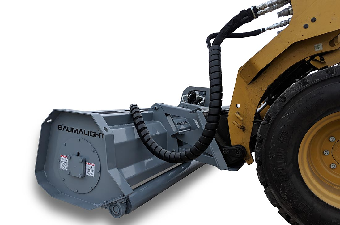Hydralic driven flail mulcher for skidsteer