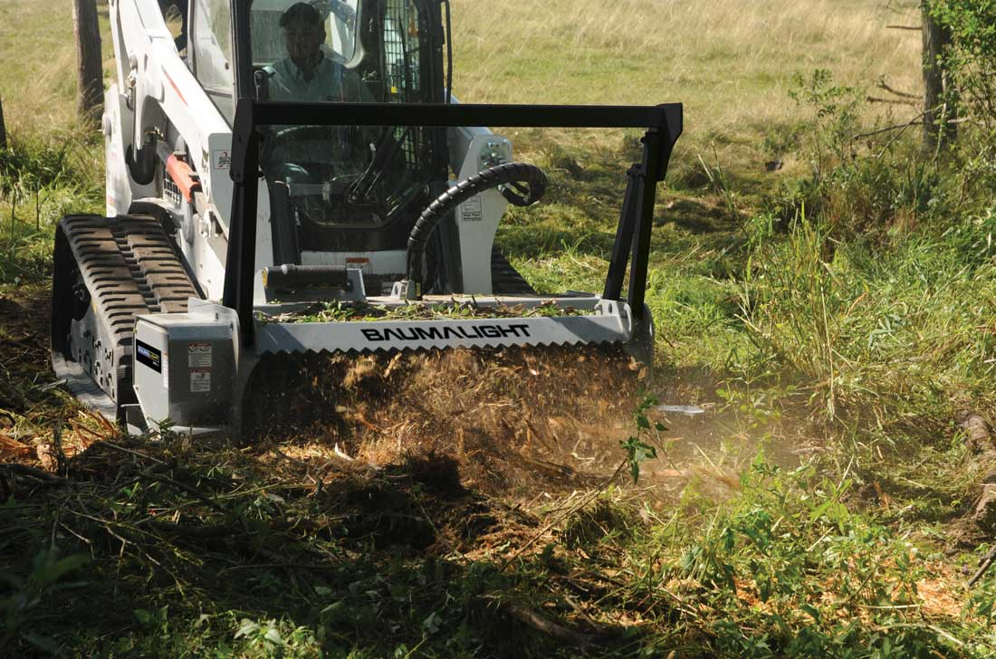 Baumalight BrushMulcher on skidsteer