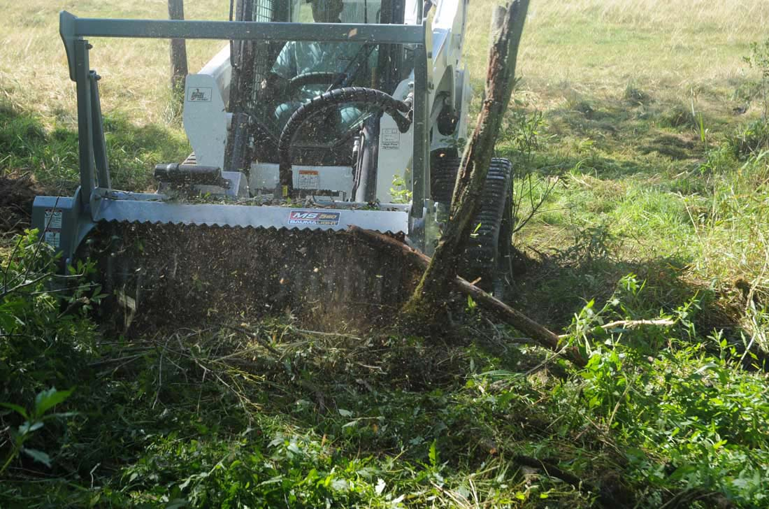 Baumalight skidsteer 500 series in action