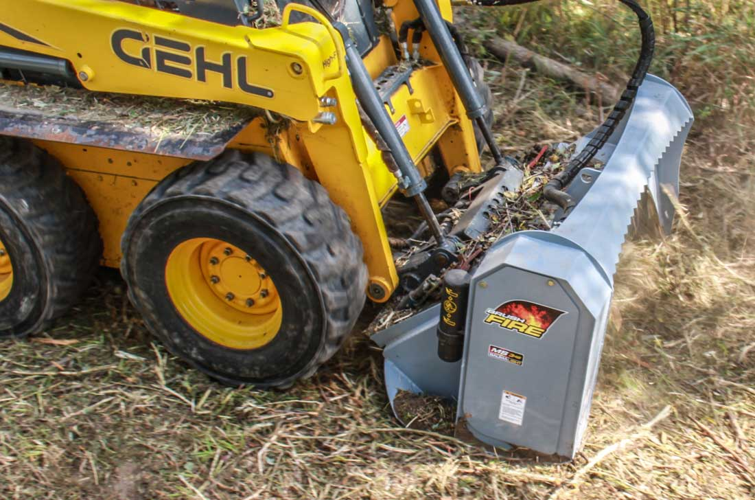 GEHL skidsteer mounted Baumalight Brushfire