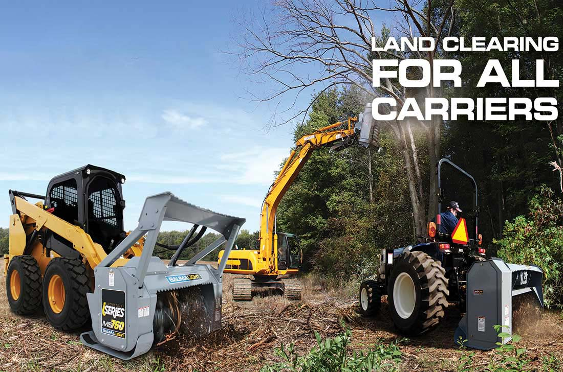 land clearing with Baumalight brush mulchers