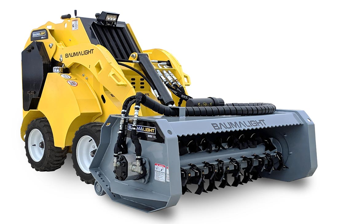 Baumalight MS148 flail mulcher for mini skidsteer