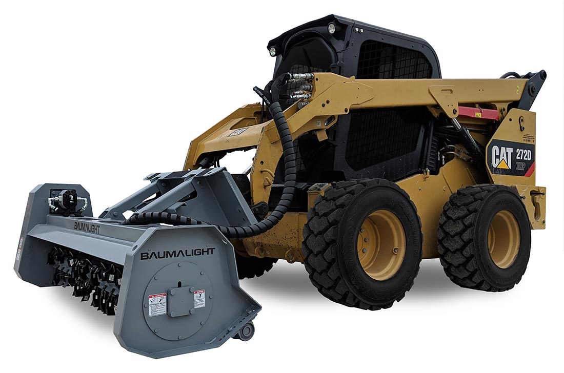 Baumalight MS280F on a skidsteer