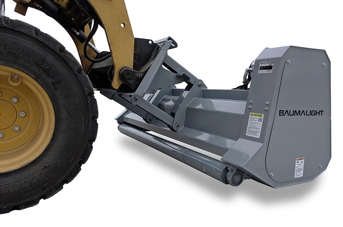 Brush mulcher for a skidsteer