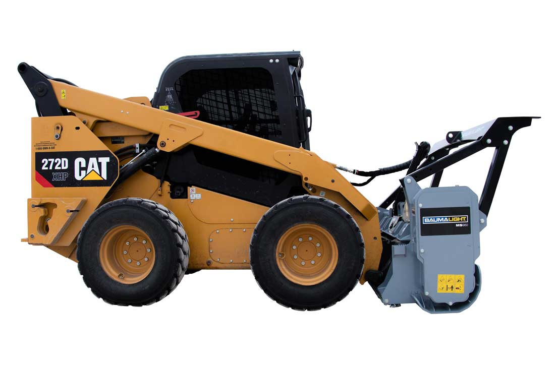 Baumalight MS960 attached to a 272D CAT skidsteer