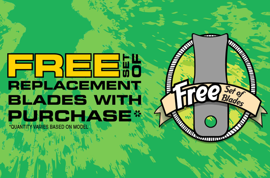 Free blades promo for Baumalight Brush mulcher purchase