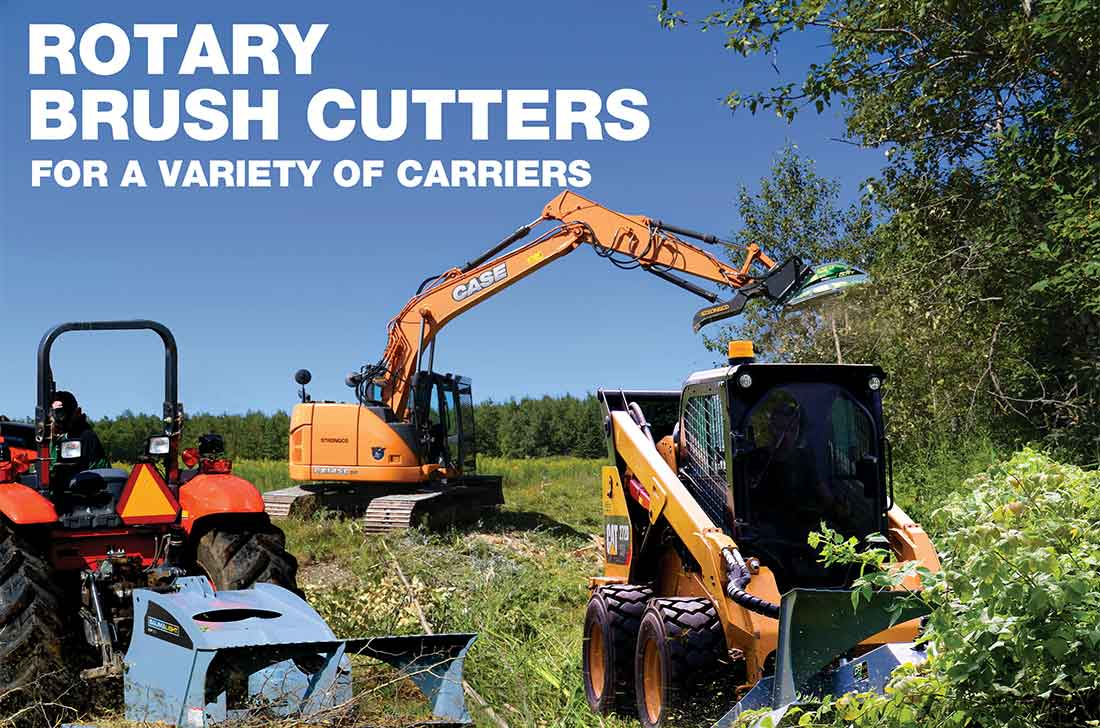 Brush mowers for a variety of carriers