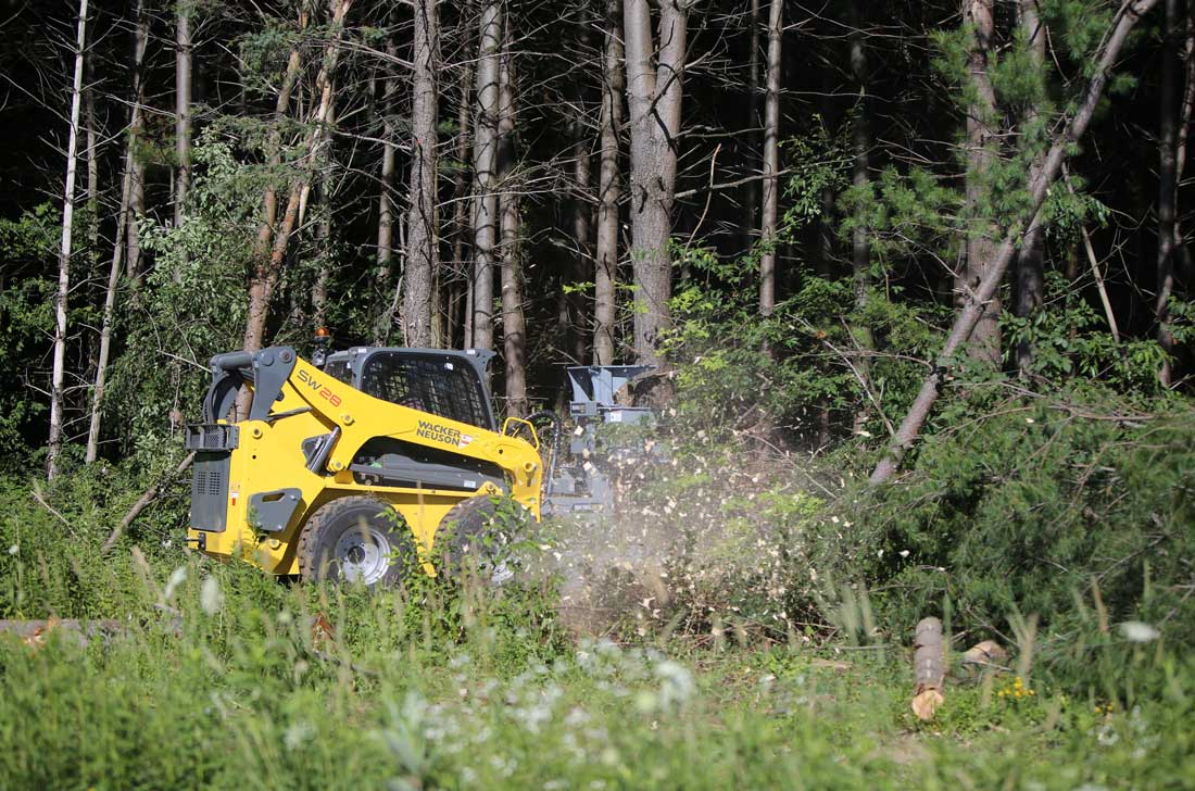 Tree handling with skid steer