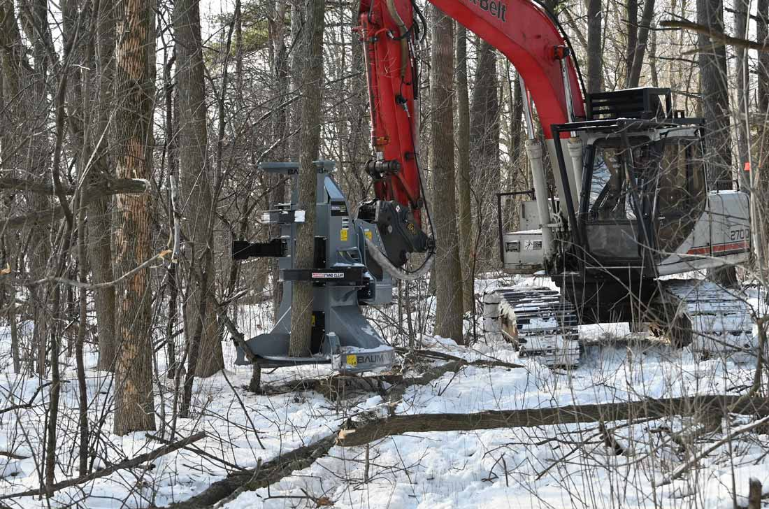 Accumulator arm on feller buncher FBXD752