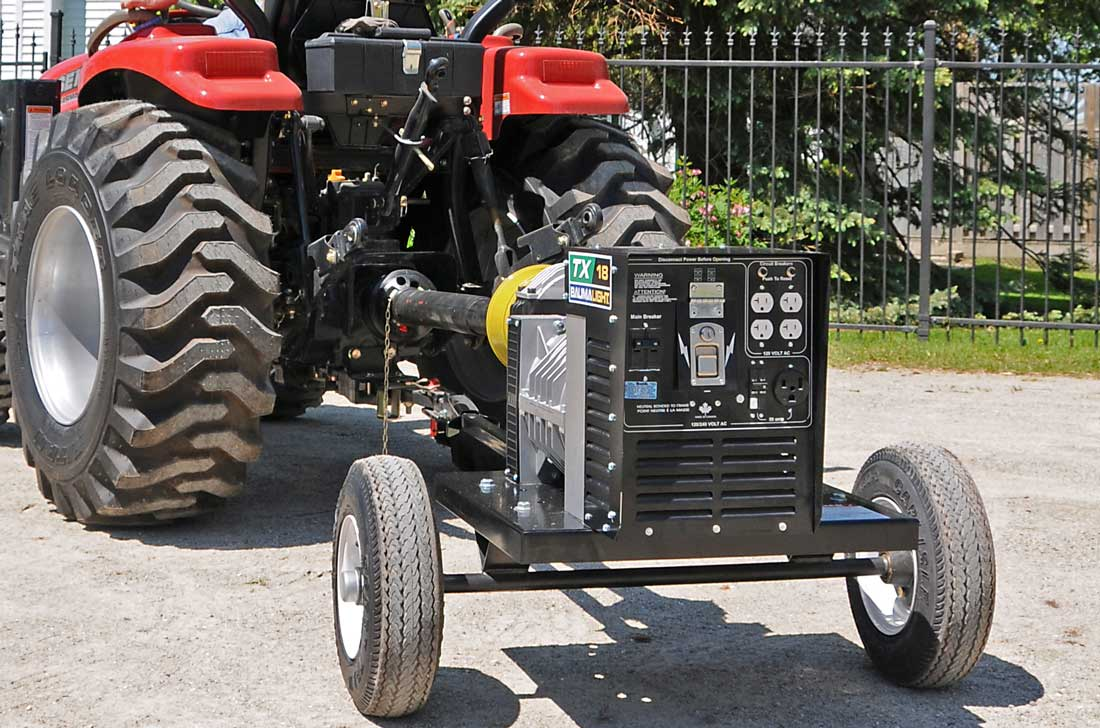 Baumalight tractor driven generator for home owner