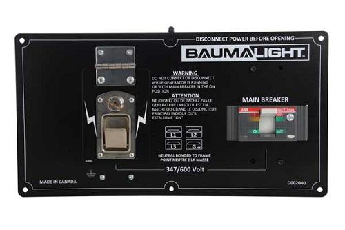 Baumalight 600 volt generator panel