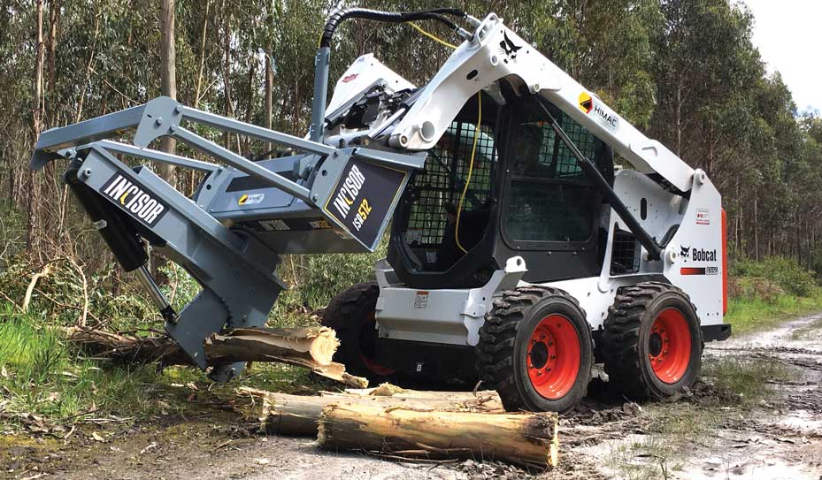 Baumalight skidsteer mounted tree shear