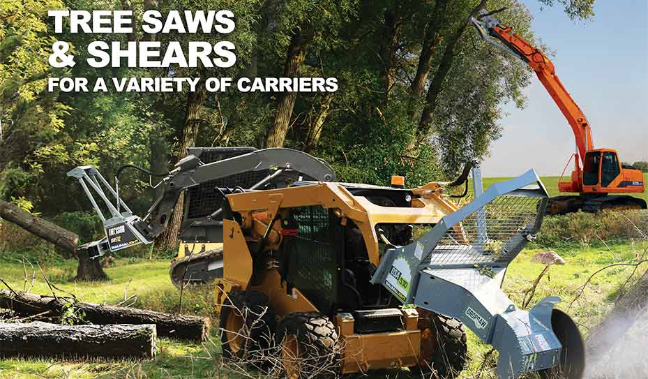 Treesaw and Shears for variety of carriers