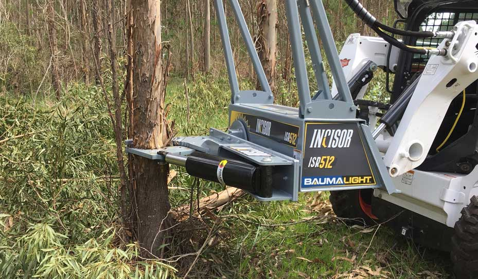 12 inch tree shear on skidsteer
