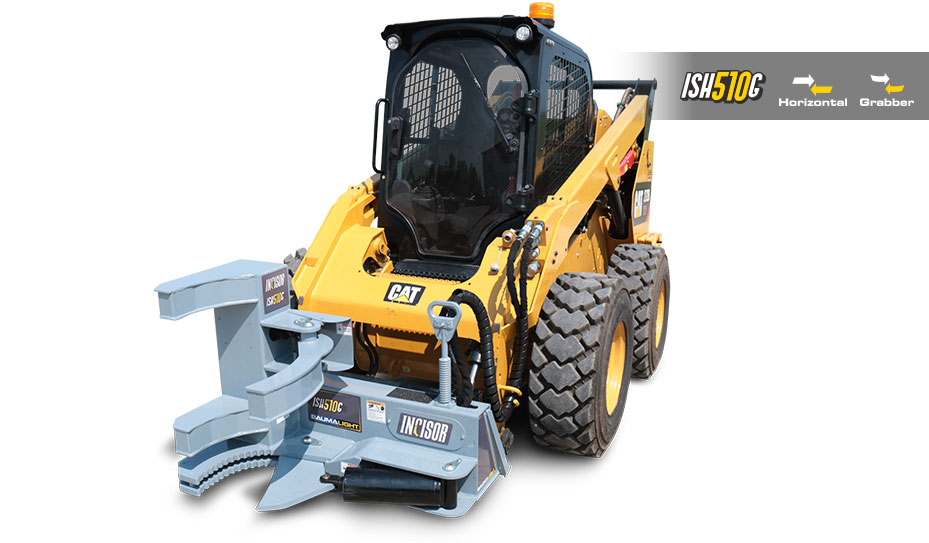 Incisor mounted on skid steer