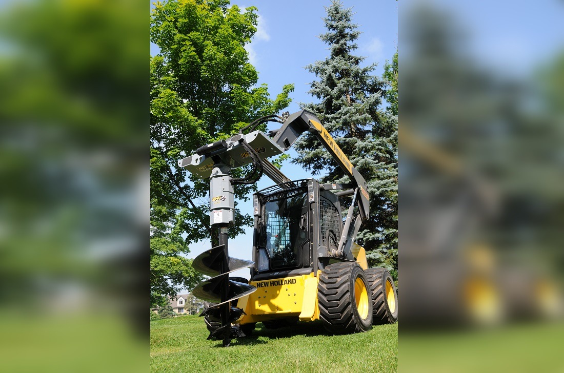 Baumalight hydraulic auger drive for skidsteer
