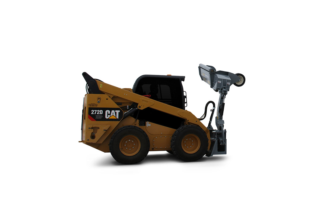Boom Mower attached on CAT 272D XHP