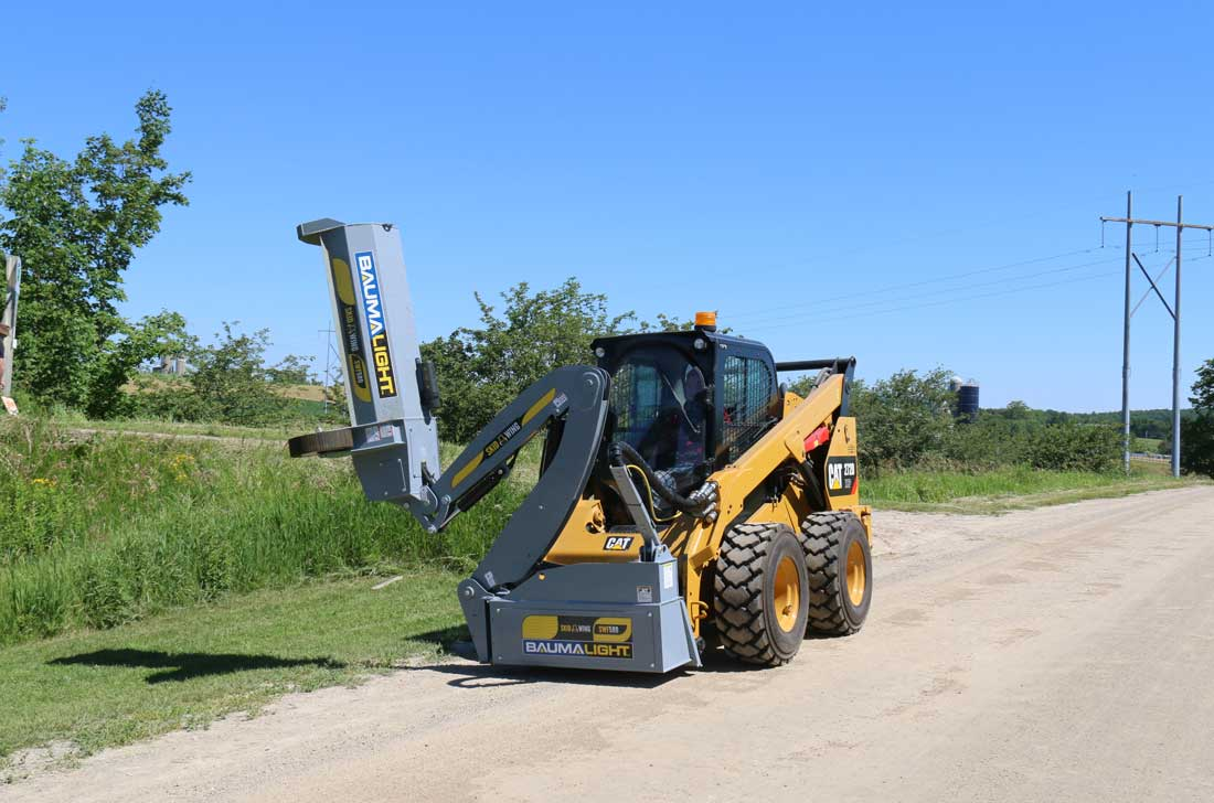 Boom Mower on CAT 272D XHP