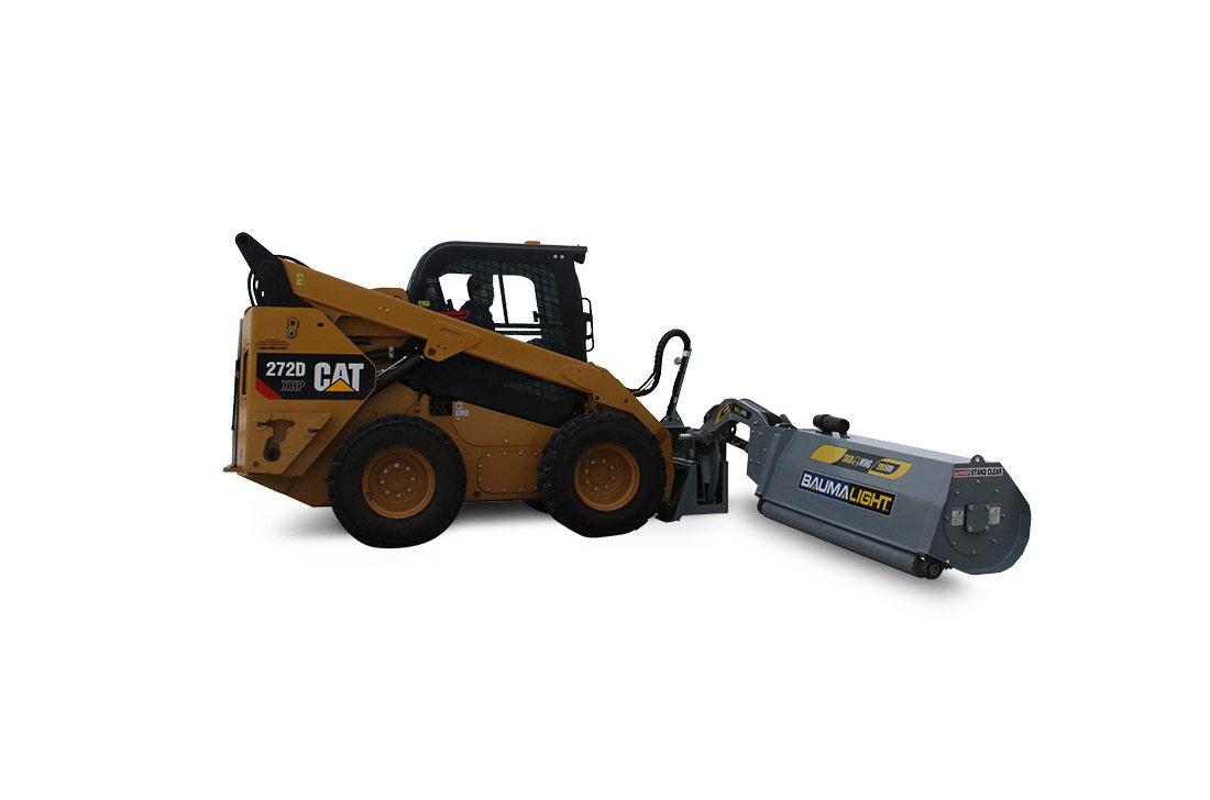 Skid Wing flail mower on CAT