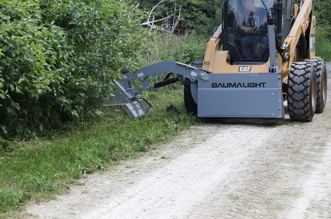 Trail maintenance with baumalight SWA760 mower