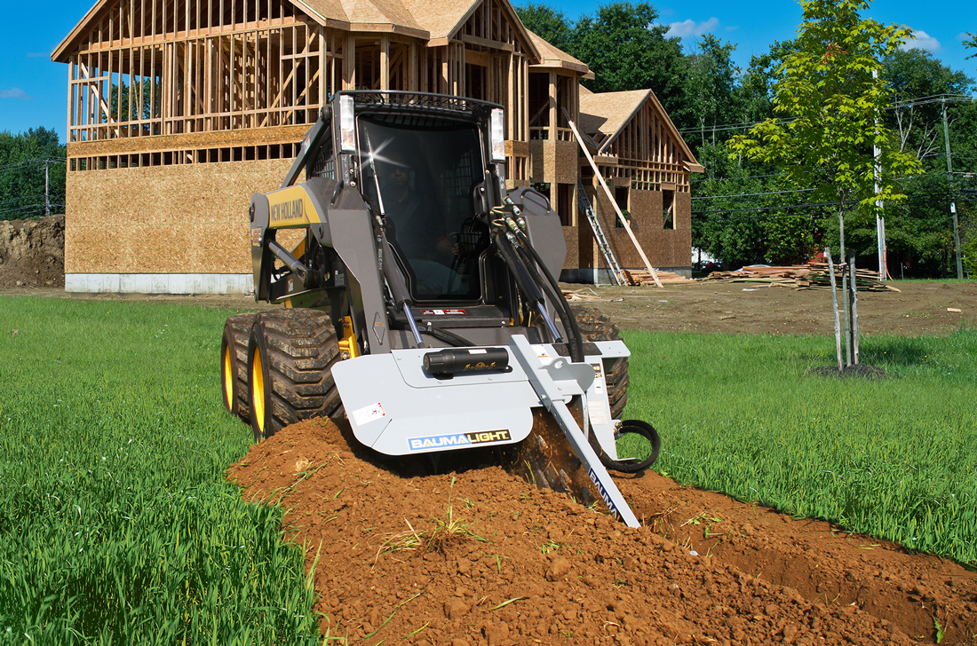 Industrial Baumalight trencher for skidsteer