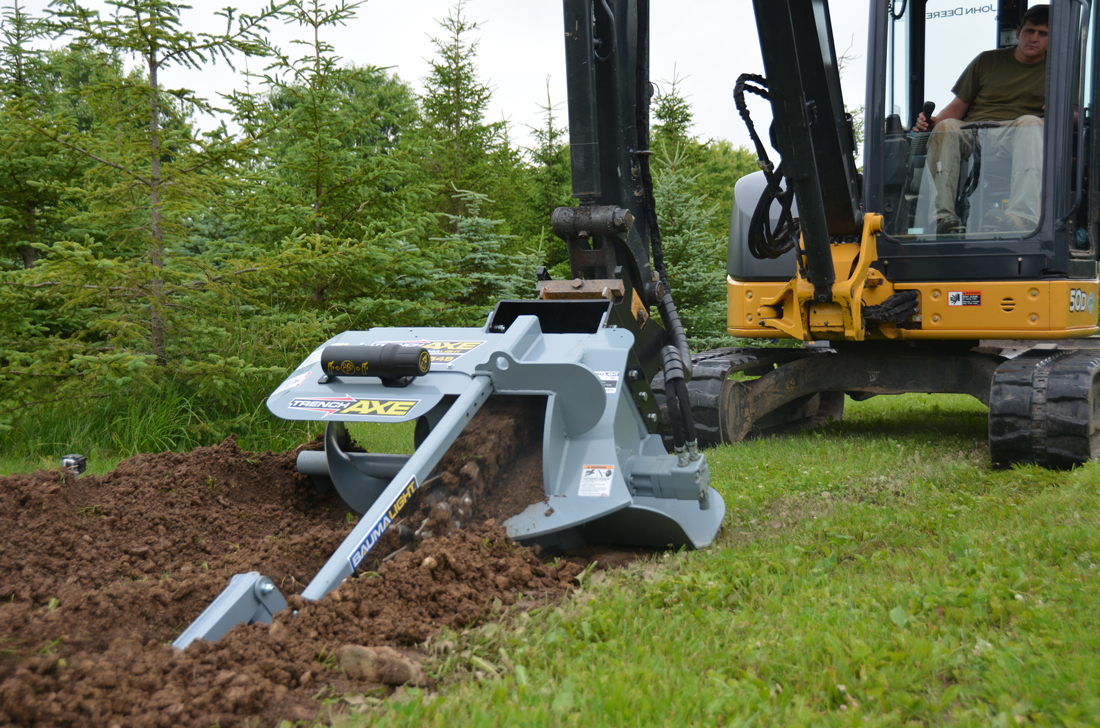 TNX548 trencher for mini skidsteer