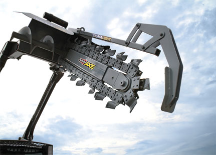 TN548 TrenchAxe trencher close-up photo