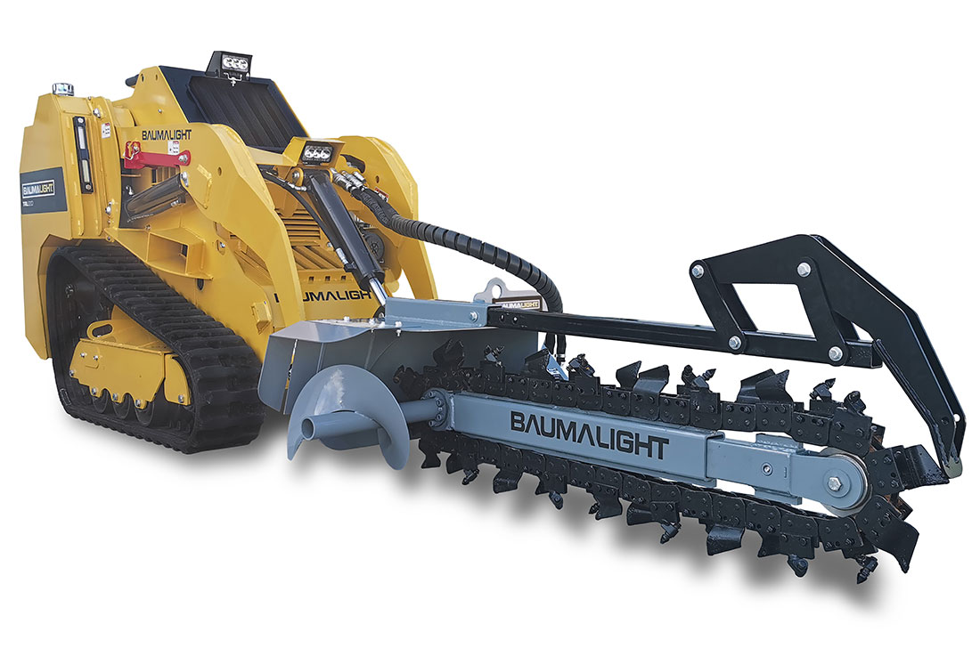 Baumalight side auger for trenchers