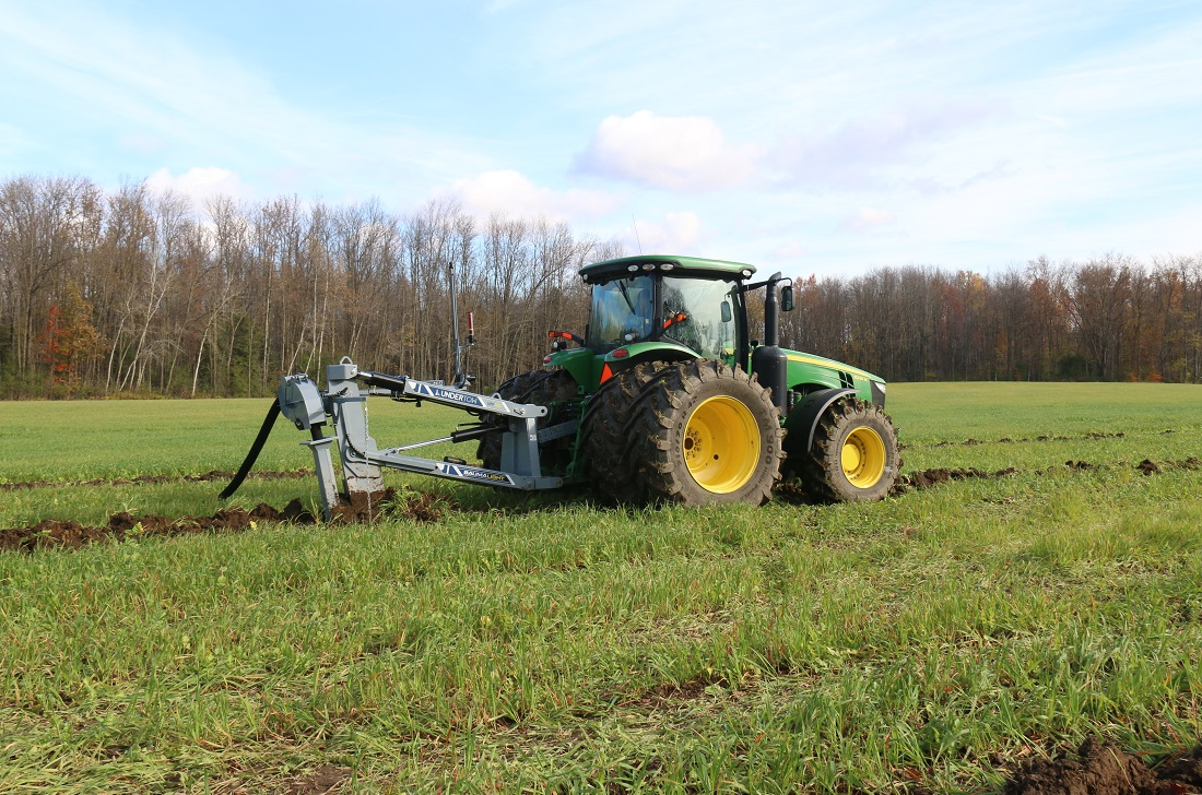 Baumalight 3 point hitch drainage plow